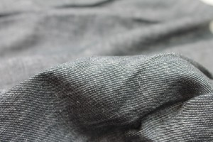 Lightweight Linen Twill - Black/White