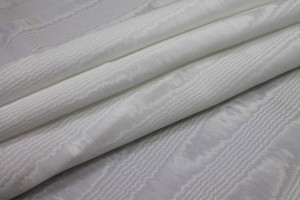 Cotton Viscose Grosgrain - White Moiré