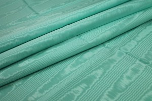 Cotton Viscose Grosgrain - Mint Moiré