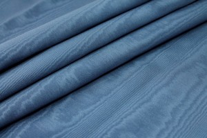 Cotton Viscose Grosgrain - Air Force Blue Moiré