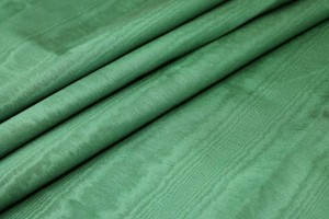 Cotton Viscose Grosgrain - Green Moiré