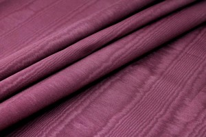Cotton Viscose Grosgrain - Burgundy Moiré
