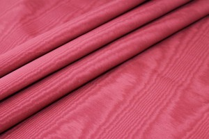 Cotton Viscose Grosgrain - Deep Red Moiré