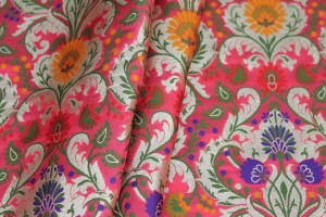 Heavy Banaras Brocade - Rose Pink/Multi