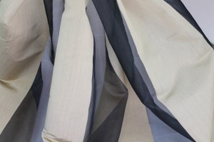 Wide Satin Stripe Silk Organza - Black Gold