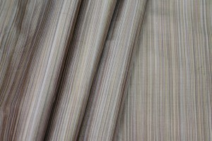 Striped Silk Dupion - Taupe