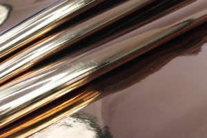 Mirror Finish Leatherette - New Copper