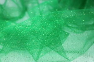 Bright Green Glitter Tulle