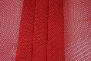 Sheer Airtex Mesh - Red