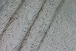 Wool Cable Knit - Ivory