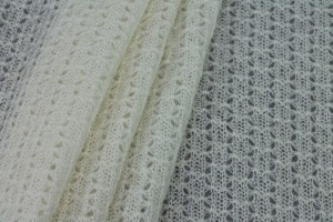 "Open ""Lace"" Wool Knit - Ivory"
