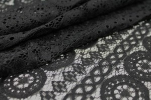 Black Lace with Circle Pattern