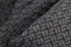 Large Basket Weave Wool - Black