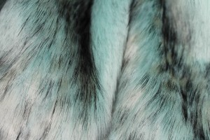 Faux Fur - Long Pile Mint with Speckled Black Tips