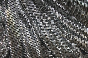 Metal Chainmaille Fabric - Grey - Whole piece