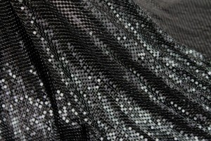 Metal Chainmaille Fabric - Black