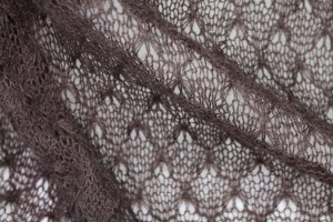 "Fine ""Lace"" Wool Knit - Brown"