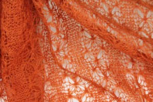"Fine ""Lace"" Wool Knit - Orange"