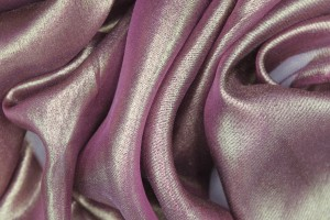 Foil Printed Silk Chiffon - Gold on Burgundy