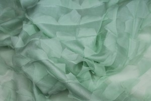 Petal Silk Chiffon on Habotal - Pale Green