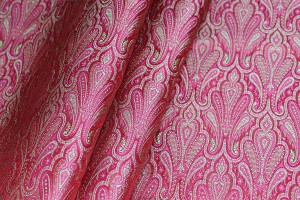Banaras Brocade - Red Pink and Sage