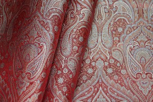 Banaras Brocade - Red Grey and Gold