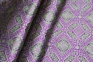 Banaras Brocade - Purple Gold and Black
