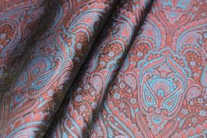 Banaras Brocade - Blue Red and Black