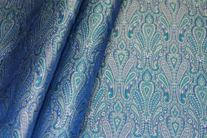 Banaras Brocade - Blue Green and Gold
