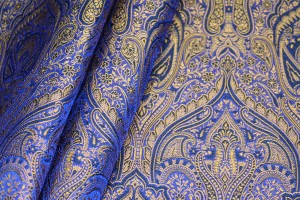 Banaras Brocade - Blue / Gold