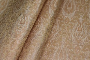 Banaras Brocade - Nude and Metallic Pink