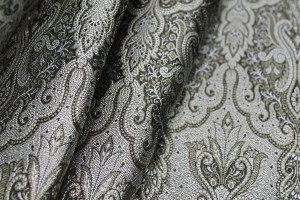 Banaras Brocade - Black Grey and Gold