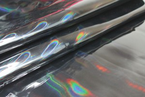 Glossy Holographic PVC - Black