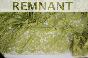 REMNANT - Chartreuse Leavers Lace - WHOLE 1.5m piece