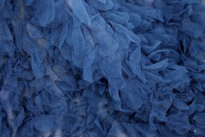 Petal Tulle on Silk Chiffon - Royal Blue