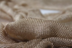 Fine Metallic Thread Knit - Gold