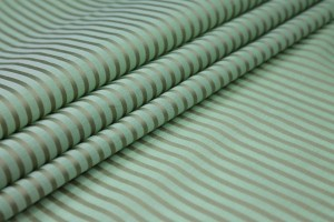 Shirting Cotton - Sheer Green Gold Stripe