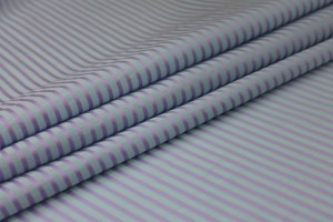 Shirting Cotton - Sheer Blue Lilac Stripe