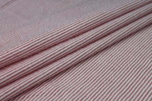 Shirting Cotton - Red and White Stripe