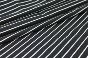 Shirting Cotton - Black and White Stripe