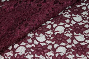 Corded Lace - Wine