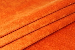 Textured Cotton Velvet - Bright orange