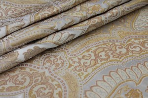 Silk Brocade - Large Scale Gold/Ivory Reversible