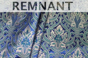 REMNANT - Heavy Banaras Brocade - Navy Green and Gold - 1m piece
