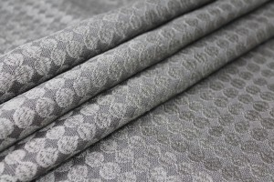 Grey Spot Embroidered Linen