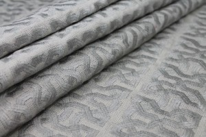 Pale Grey Celtic Knot Embroidered Linen