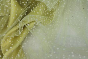 Photographed on a citrus yellow background fabric.