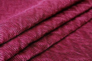 Pleated Satin Bonded to Muslin - Burgundy