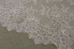 Scroll Border Chantilly Lace - Peach