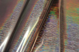 Holo Stripe Leatherette - Bronze